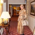 mink fur coat - champagne coloured full length